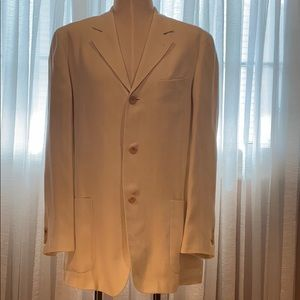 Hugo Boss elegant linen off white blazer, 40R